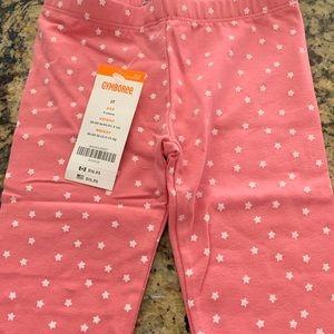 NWT Gymboree Pink w/ white stars leggings